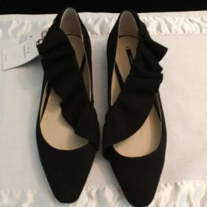 Zara leather flats NWT